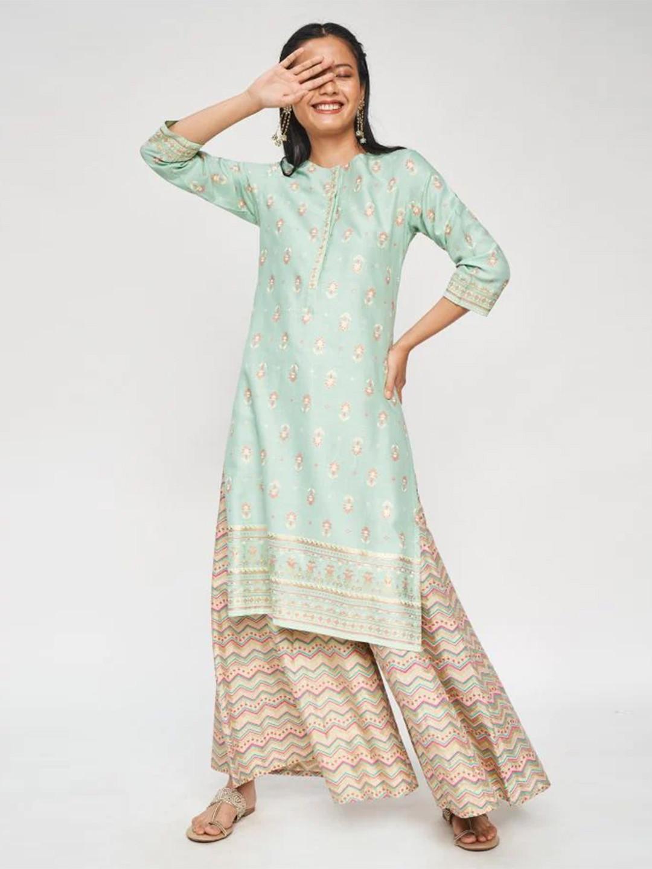 Pista green casual kurti for women?imgeng=w_400