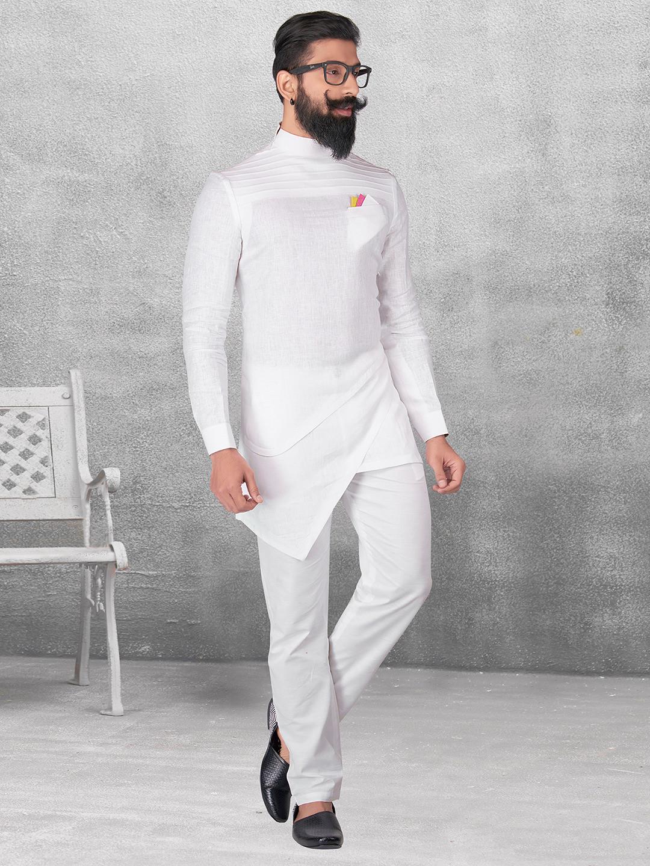 Plain white silk kurta suit?imgeng=w_400