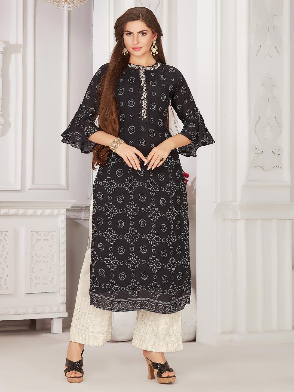 Printed black cotton festive wear salwar suit ?imgeng=w_400
