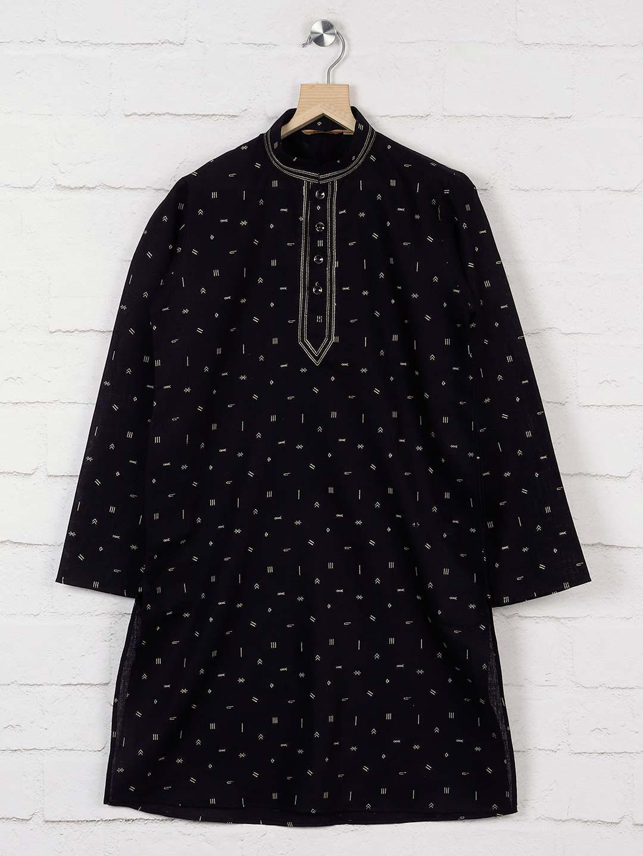 Printed black hued cotto kurta suit?imgeng=w_400
