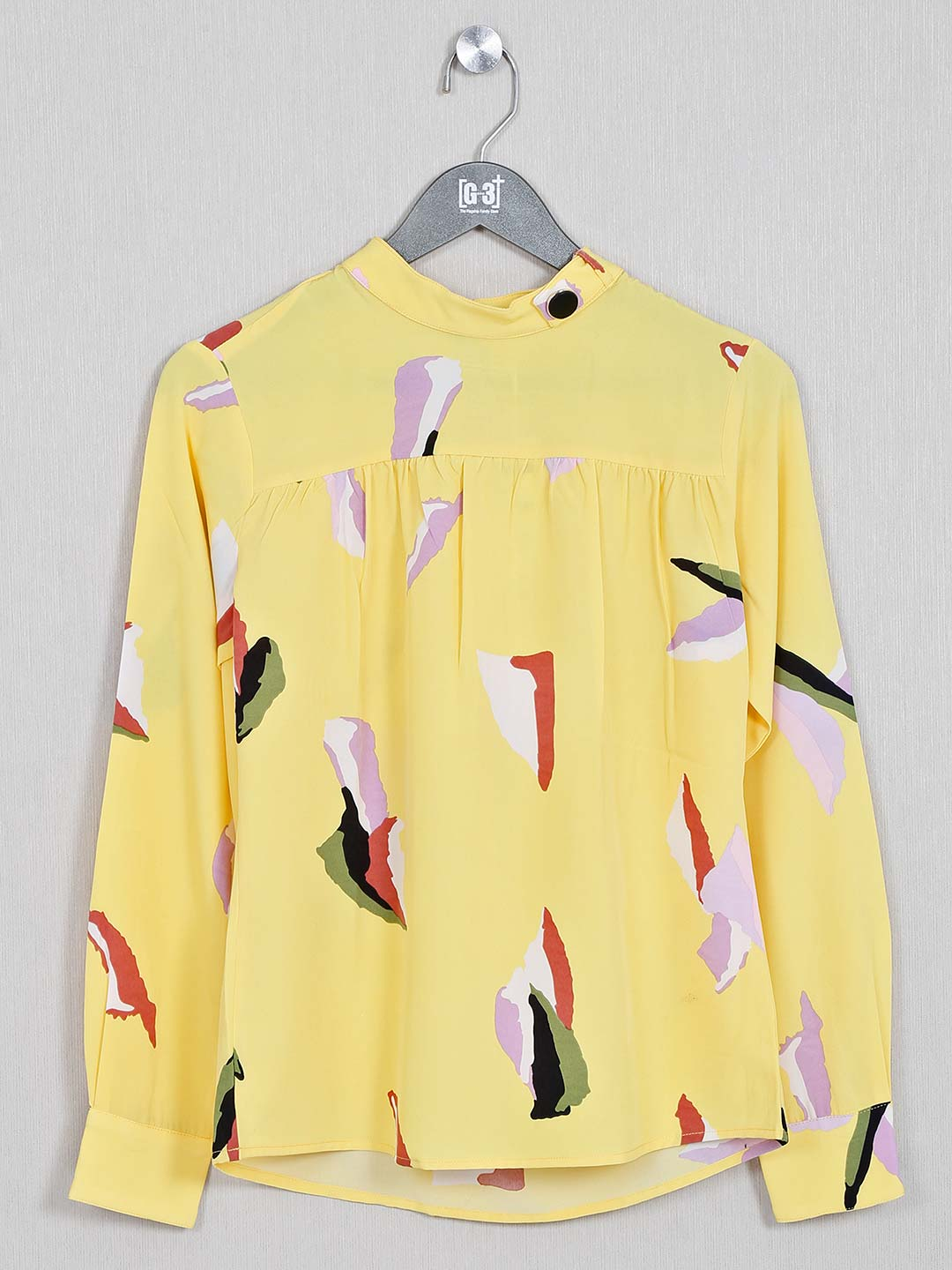 Printed cotton top in yellow?imgeng=w_400