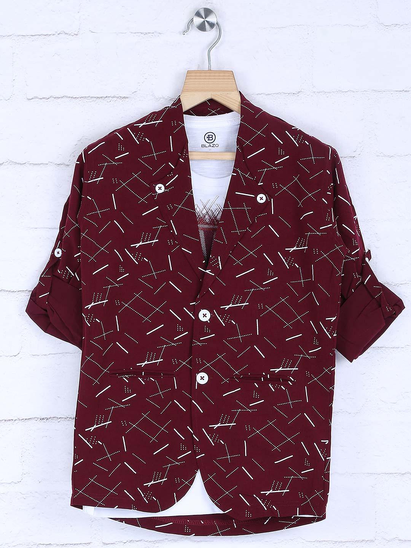 Printed maroon hue casual blazer?imgeng=w_400