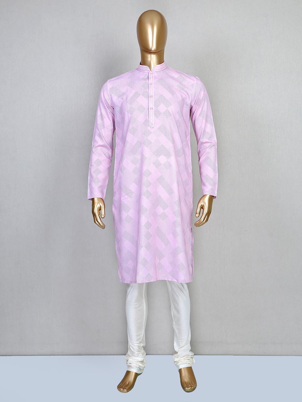 Printed pink cotton festive wear kurta suit?imgeng=w_400