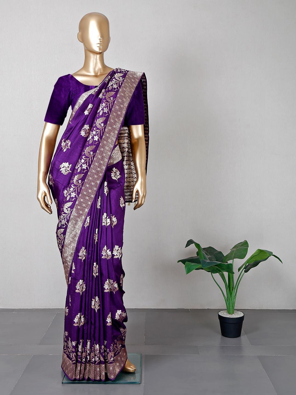 Purple designer silk saree for wedding?imgeng=w_400
