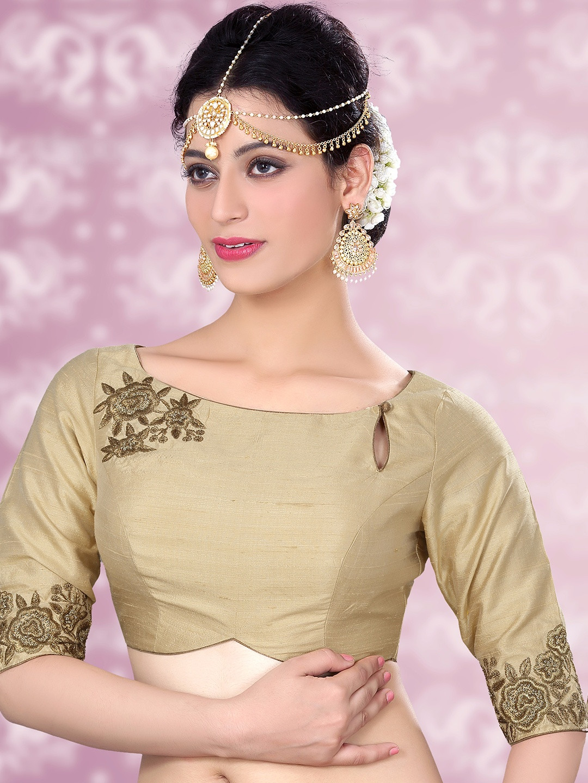 Raw silk cream designer ready made blouse?imgeng=w_400