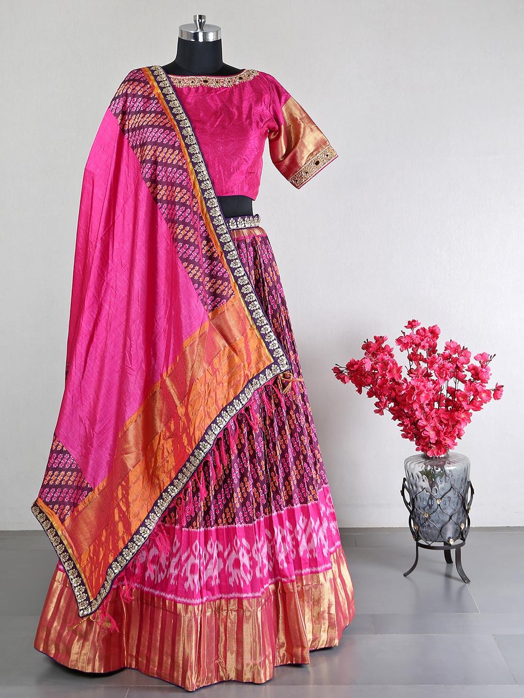 Raw silk magenta wedding special lehenga choli?imgeng=w_400