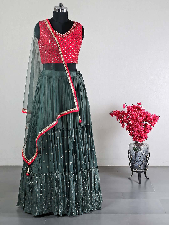 Raw silk magenta wedding wear lehenga choli?imgeng=w_400
