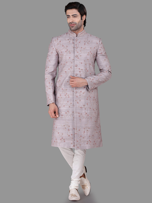 Raw silk voilet indo western wedding wear?imgeng=w_400