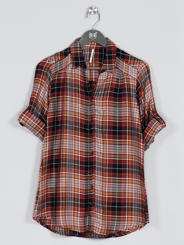 Recap brown women cotton casual shirt ?imgeng=w_400