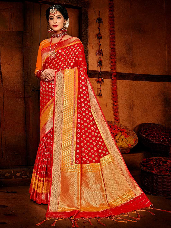 Red banarasi silk for wedding session?imgeng=w_400