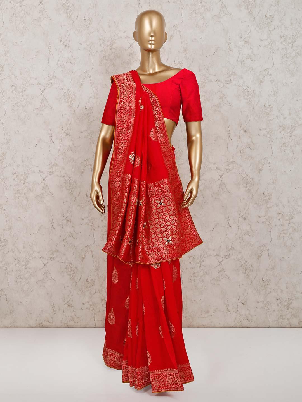 Red muga silk saree for parties?imgeng=w_400