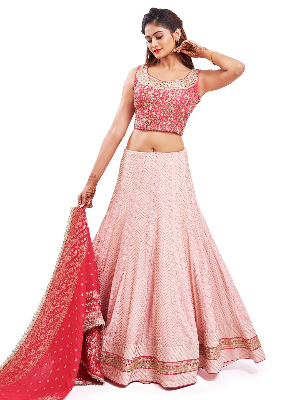 Rich baby pink georgette wedding wear lehenga choli?imgeng=w_400