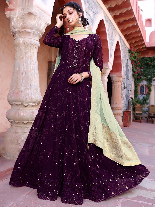 Rich purple georgette festive wear anarkali suit?imgeng=w_400