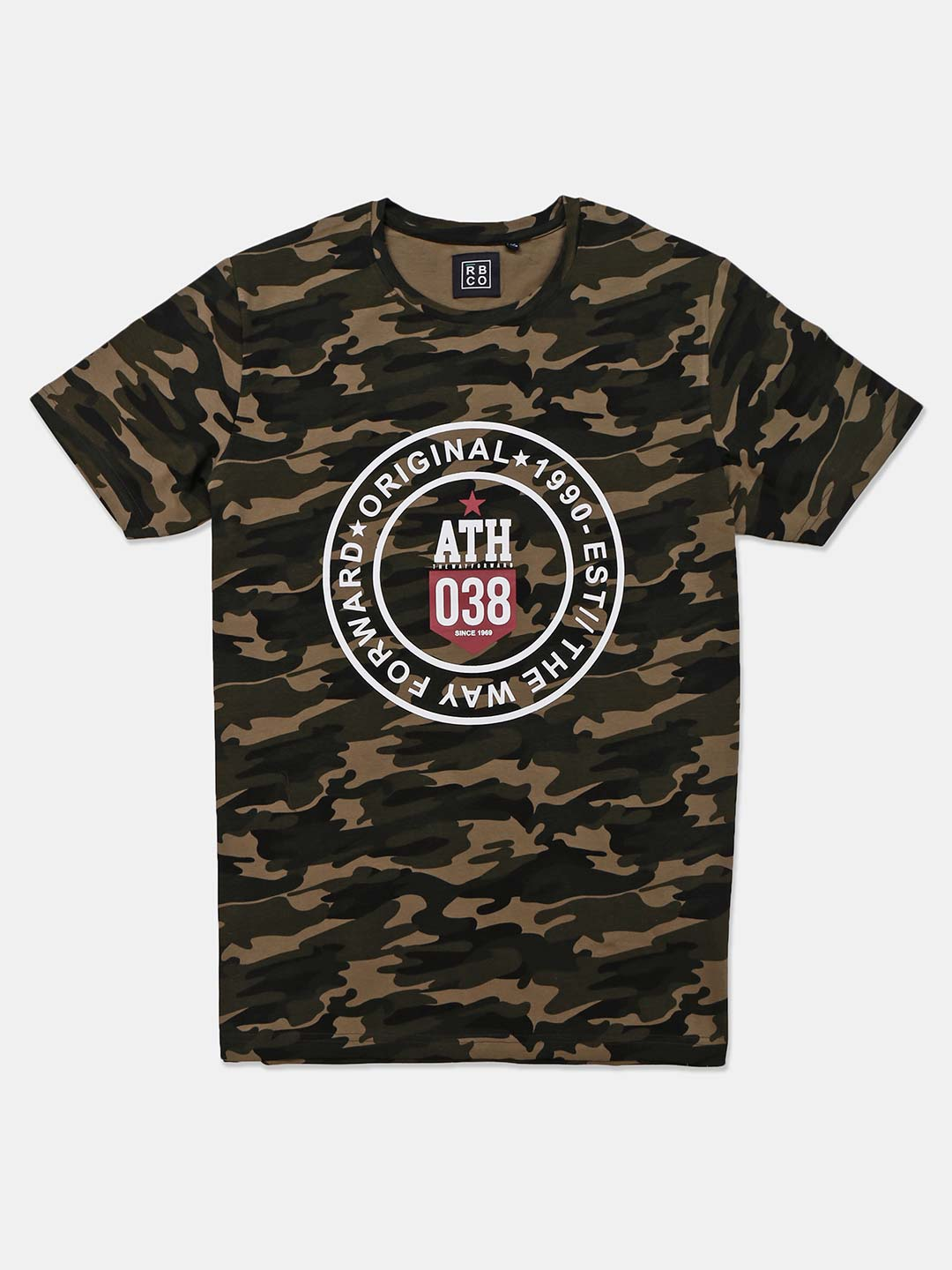 River Blue camouflage printed olive t-shirt?imgeng=w_400