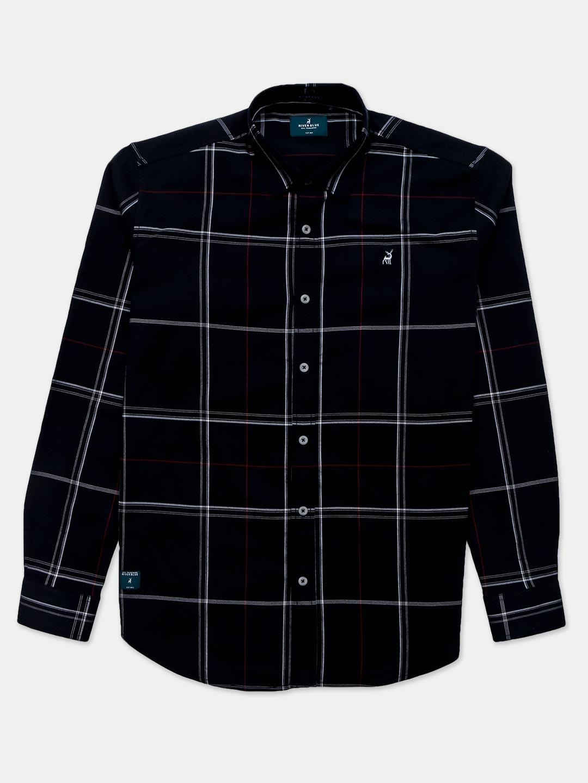River Blue checks black cotton shirt?imgeng=w_400