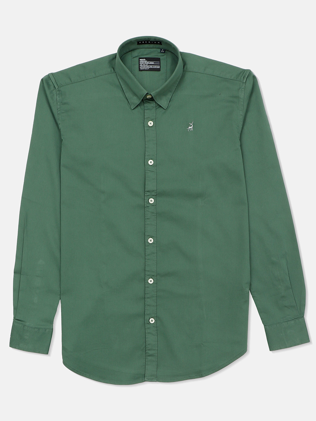River Blue green color solid shirt for mens?imgeng=w_400