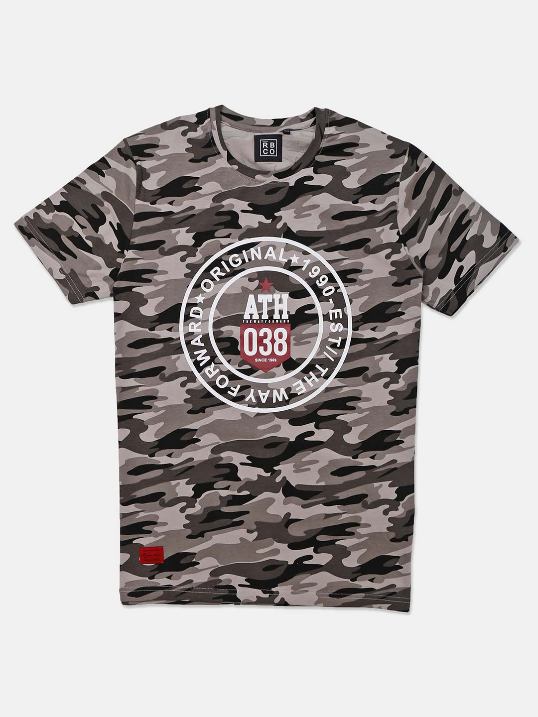 River Blue grey camouflage printed t-shirt?imgeng=w_400