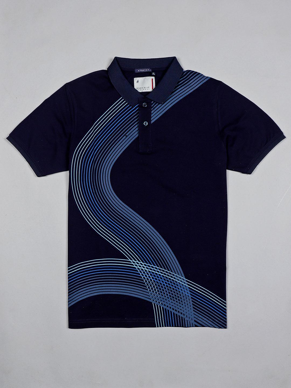 River Blue navy printed casual wear men t-shirt?imgeng=w_400