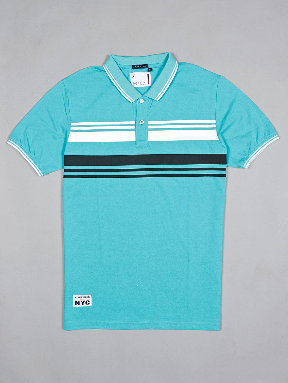 River Blue printed mint green cotton t-shirt?imgeng=w_400