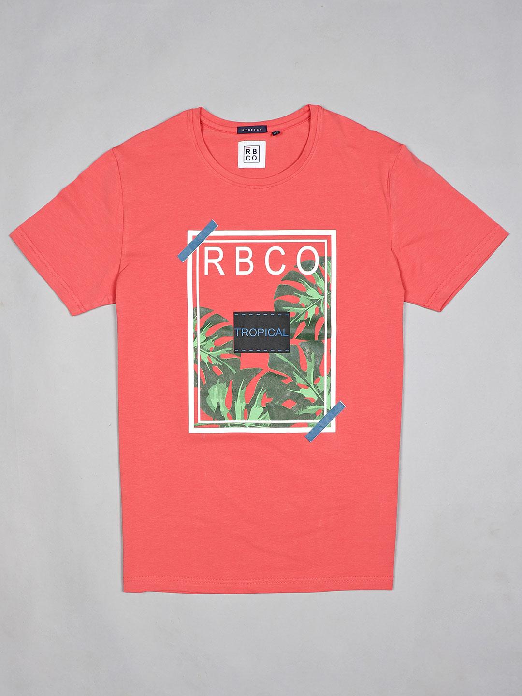 River Blue printed peach casual cotton t-shirt?imgeng=w_400