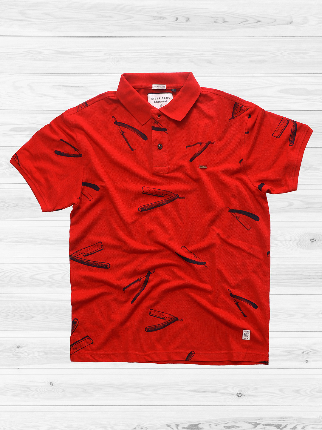 River Blue red slim fit mens t-shirt?imgeng=w_400