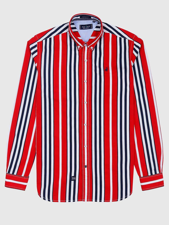 River Blue red stripe pattern cotton shirt?imgeng=w_400
