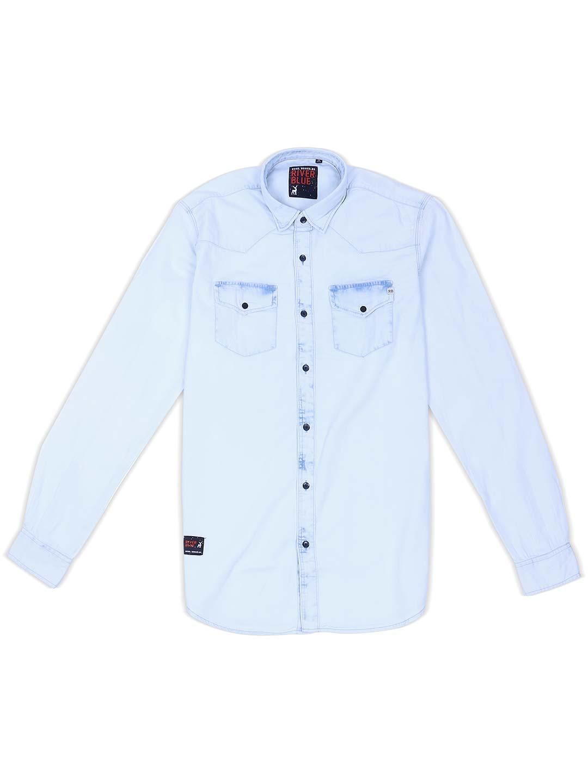 River Blue sky blue hue solid shirt?imgeng=w_400