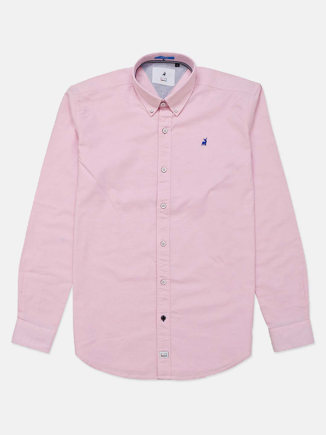 River Blue solid casual wear pink shirt?imgeng=w_400