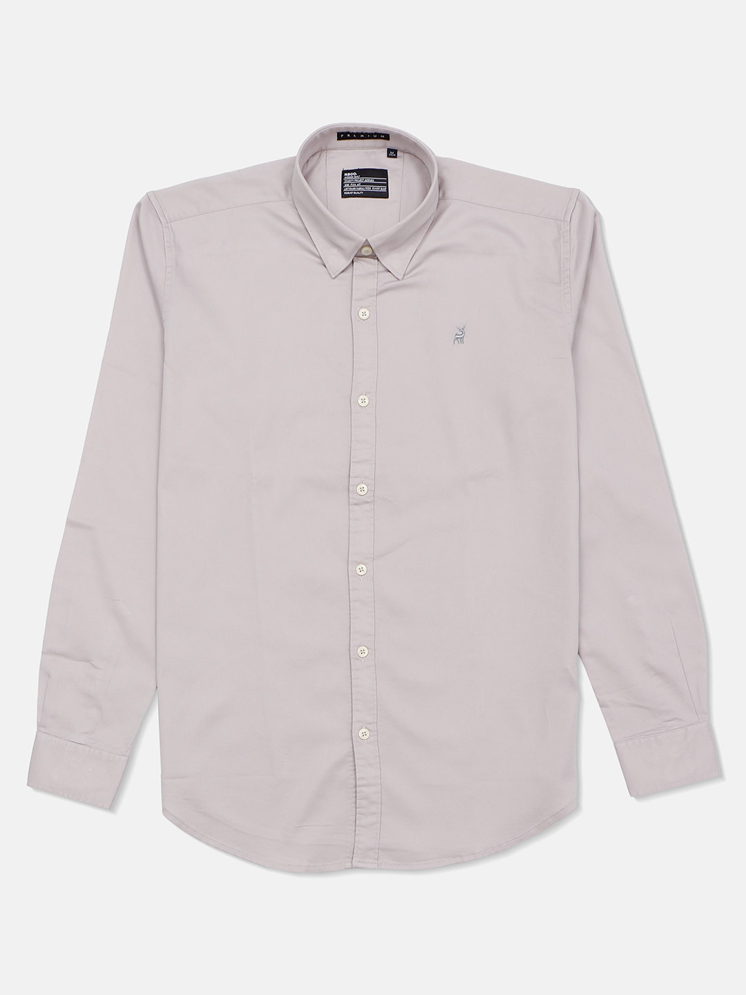 River Blue solid slim fit casual grey shirt?imgeng=w_400