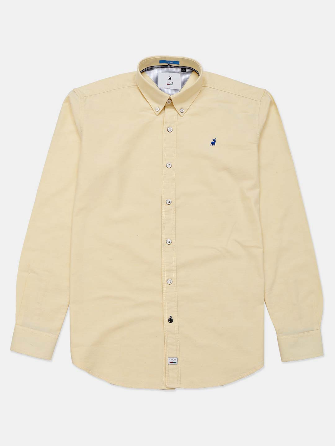 River Blue solid yellow cotton shirt?imgeng=w_400