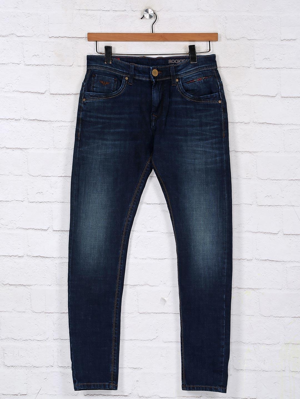 Rookies navy slim fit denim jeans?imgeng=w_400