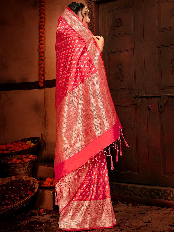 Royal pink banarasi silk wedding wear saree?imgeng=w_400