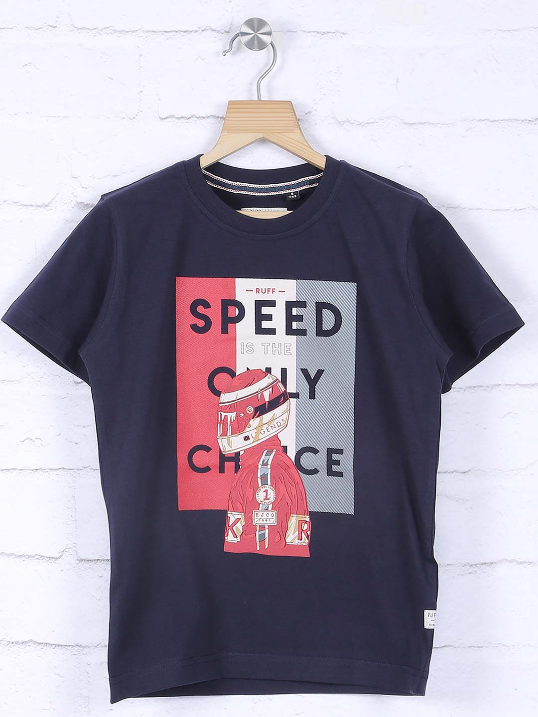 Ruff casual navy color printed t-shirt?imgeng=w_400