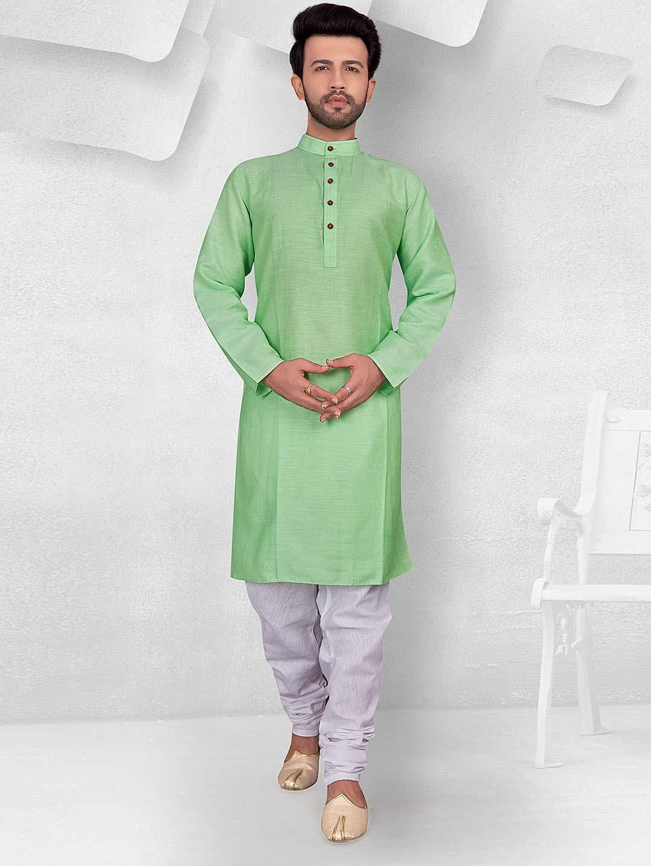 Sea green color solid festive kurta suit?imgeng=w_400