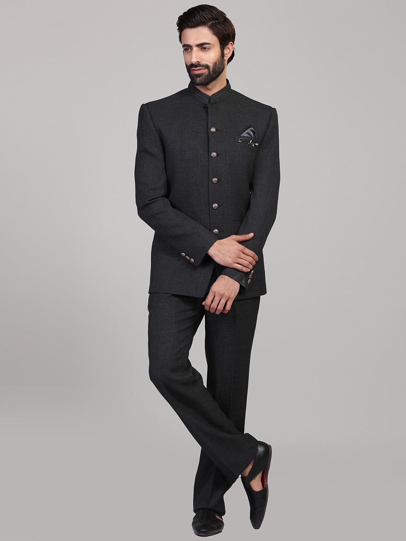 Simple dark grey party wear jodhpuri suit?imgeng=w_400