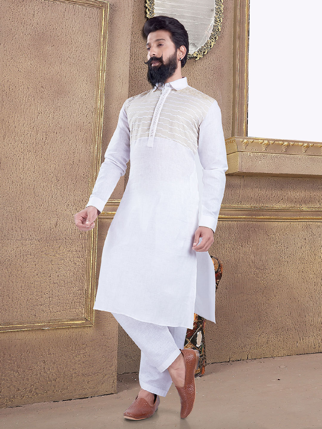 Simple white pathani suit?imgeng=w_400