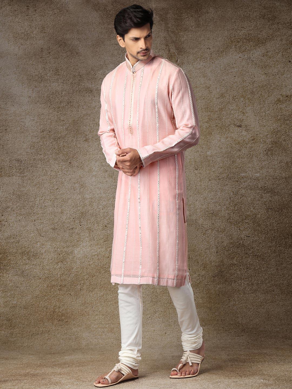 Sober pink cotton full sleeves kurta suit?imgeng=w_400