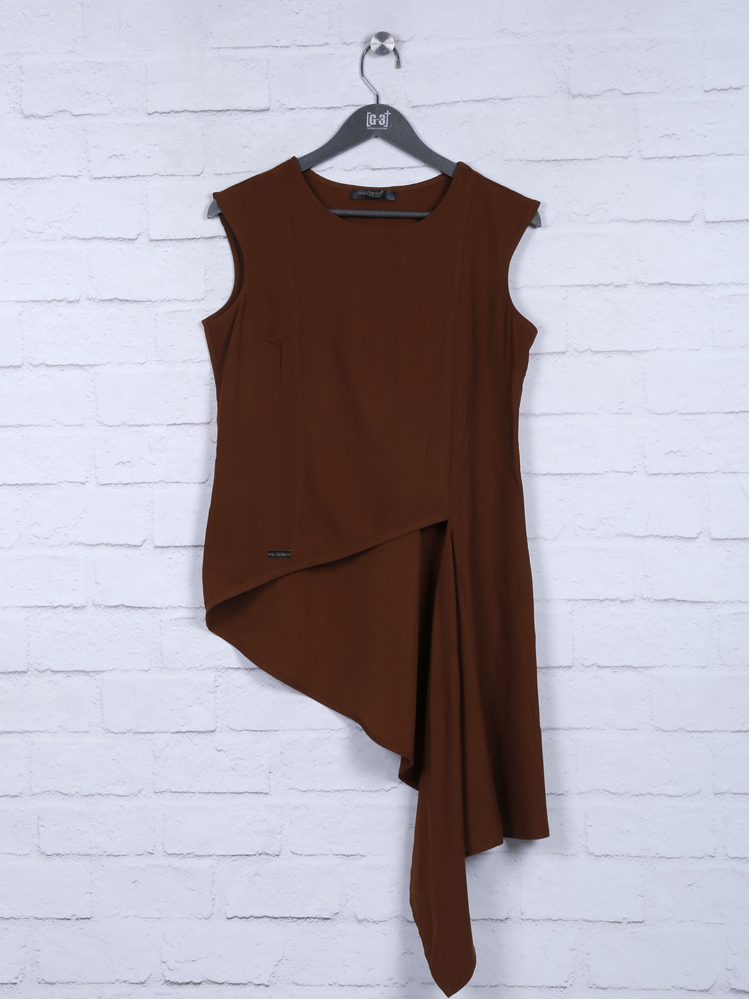 Solid brown hue cotton fabric top?imgeng=w_400