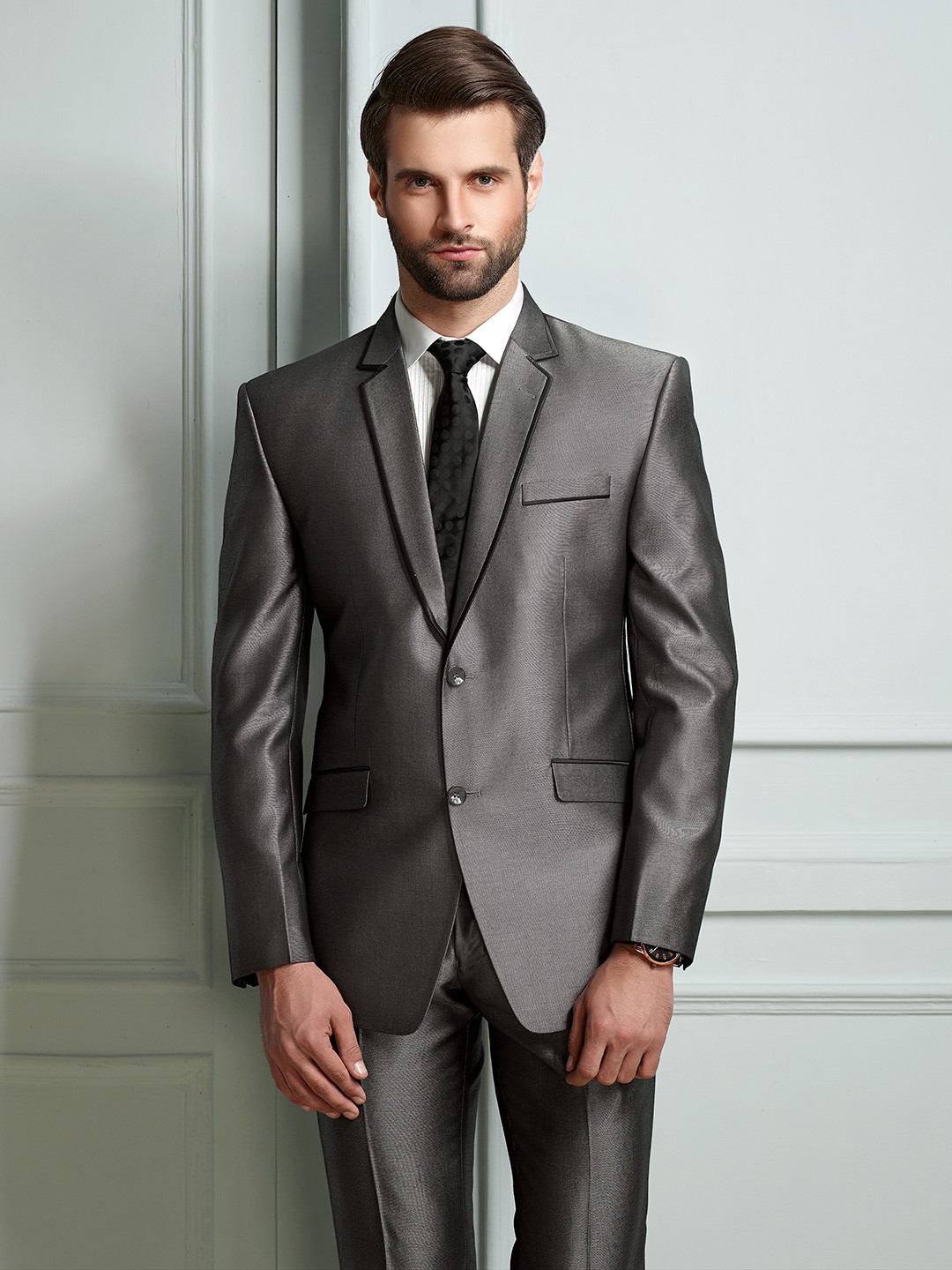 Solid grey terry rayon fabric mens coat suit?imgeng=w_400