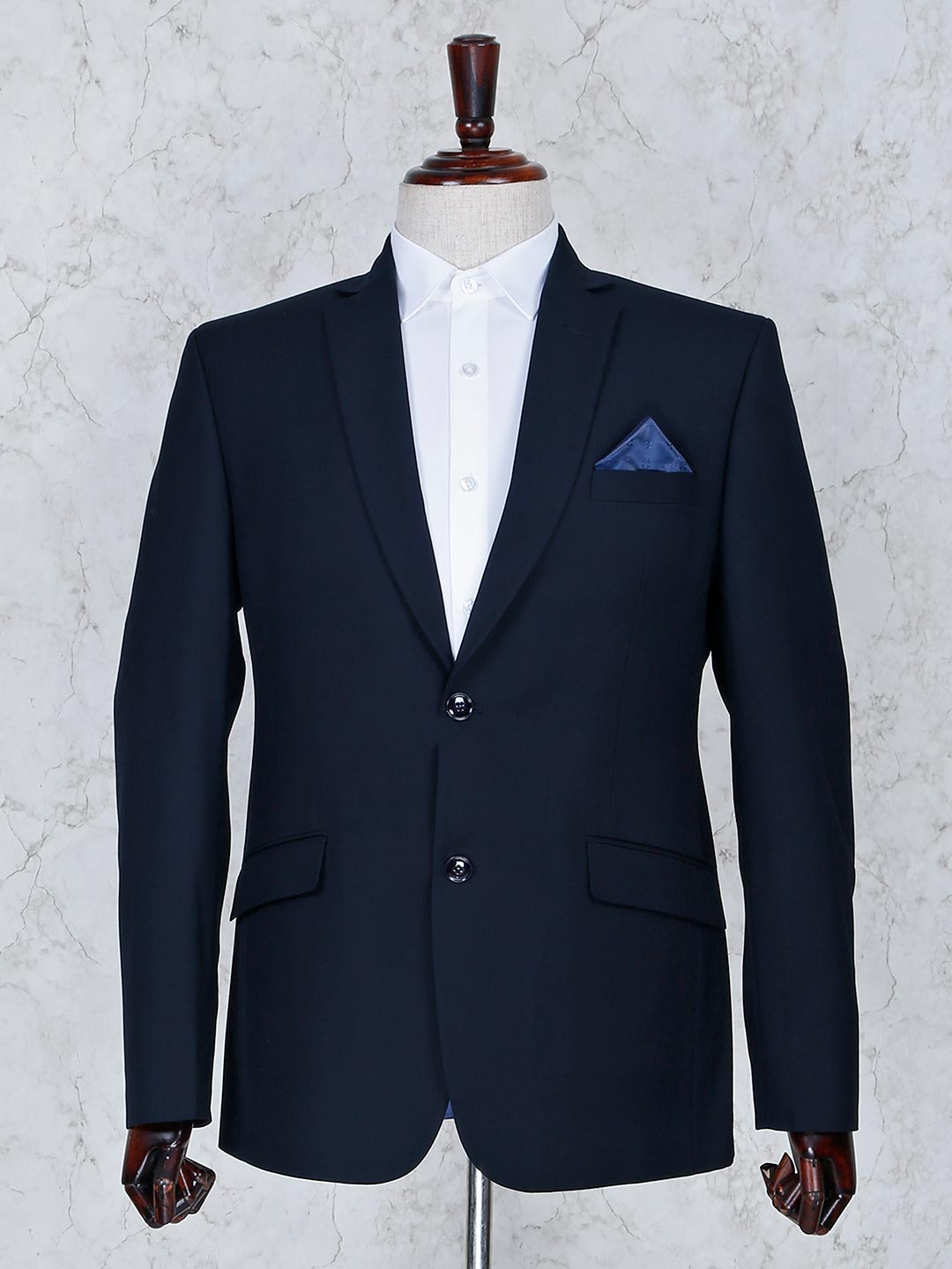 Solid navy color terry rayon fabric mens blazer?imgeng=w_400