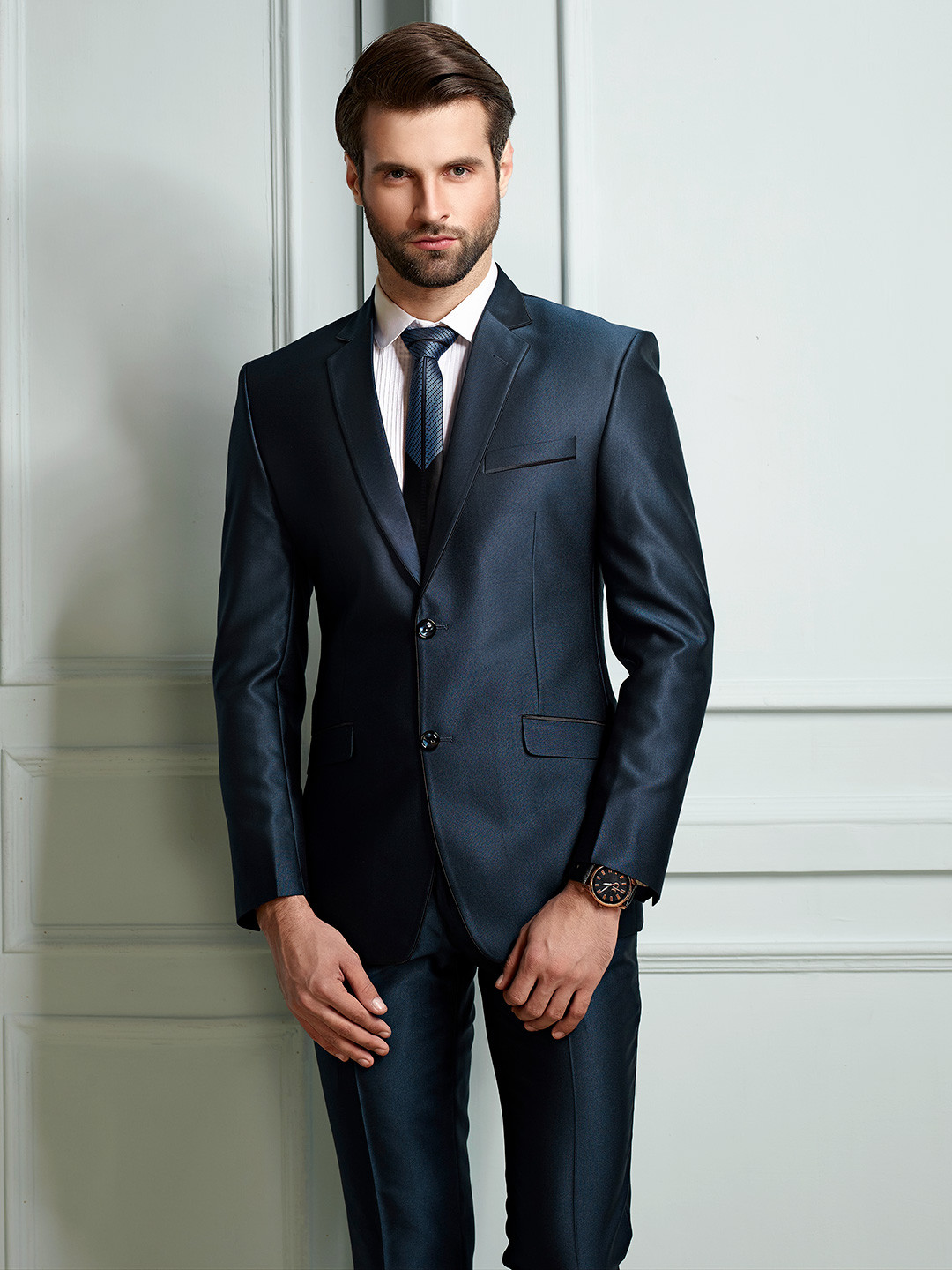Solid royal blue terry rayon mens coat suit?imgeng=w_400