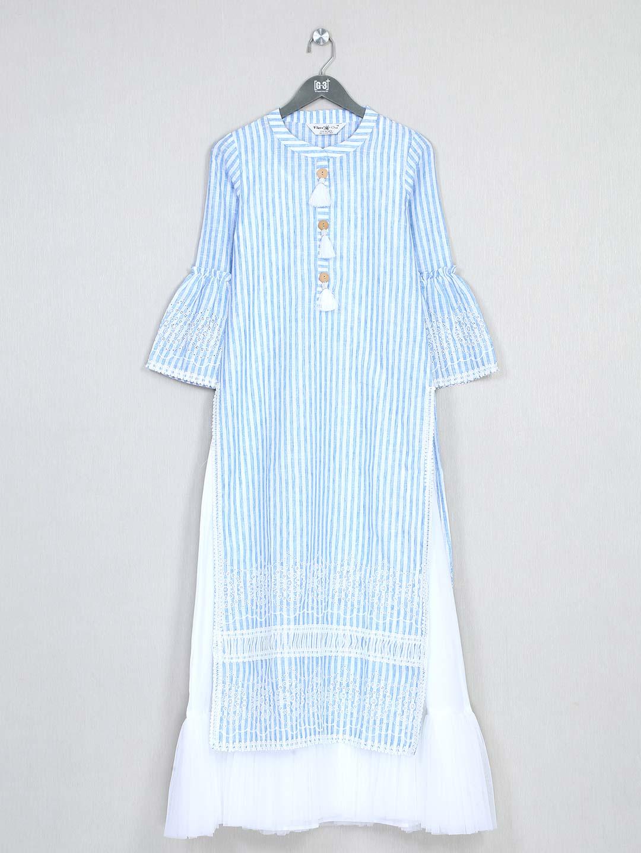 Special blue cotton kurti for women?imgeng=w_400