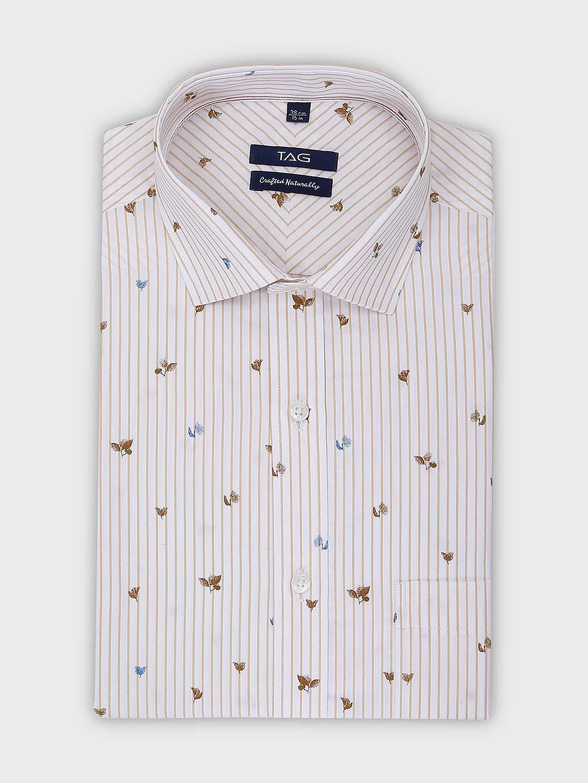 TAG printed and stripe pattern formal shirt?imgeng=w_400