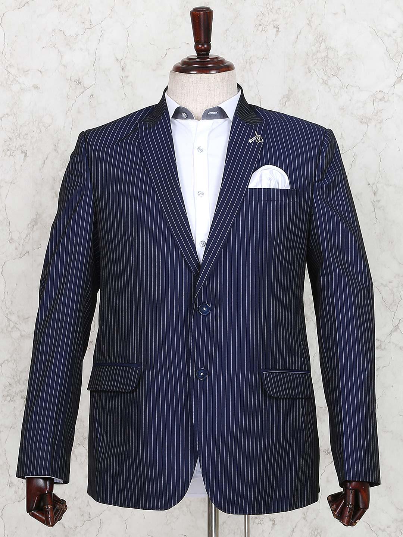 Terry rayon dark navy stripe blazer?imgeng=w_400