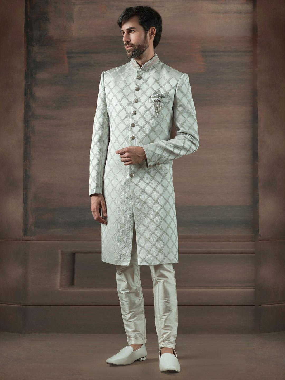 Terry rayon off white hue churidar indo western?imgeng=w_400