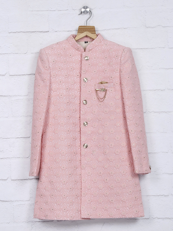 Terry rayon pink color wedding indo western?imgeng=w_400