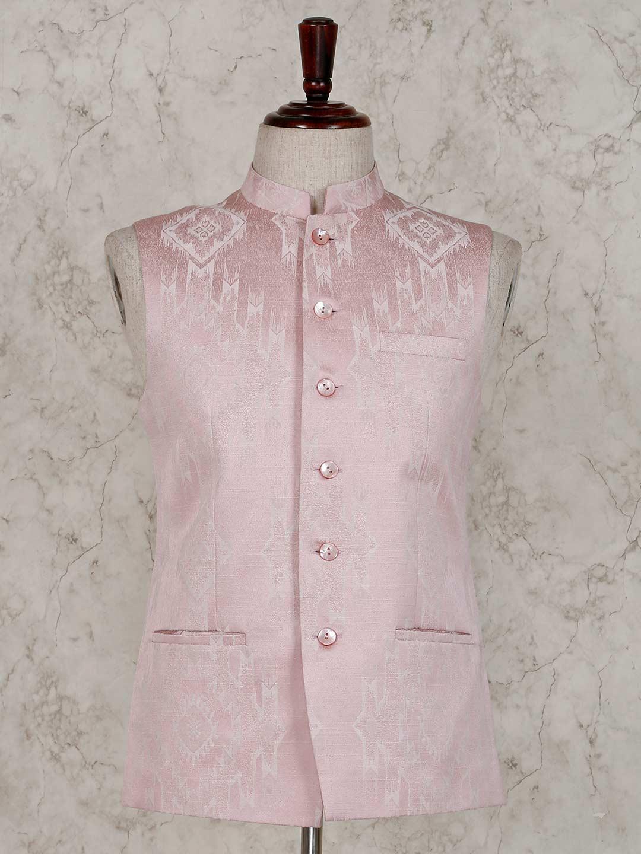 Terry rayon pink party wear waistcoat ?imgeng=w_400