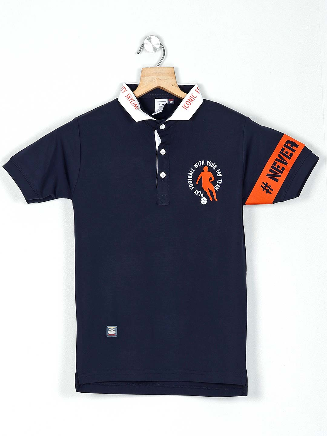 Timbuktuu navy cotton solid casual t-shirt?imgeng=w_400