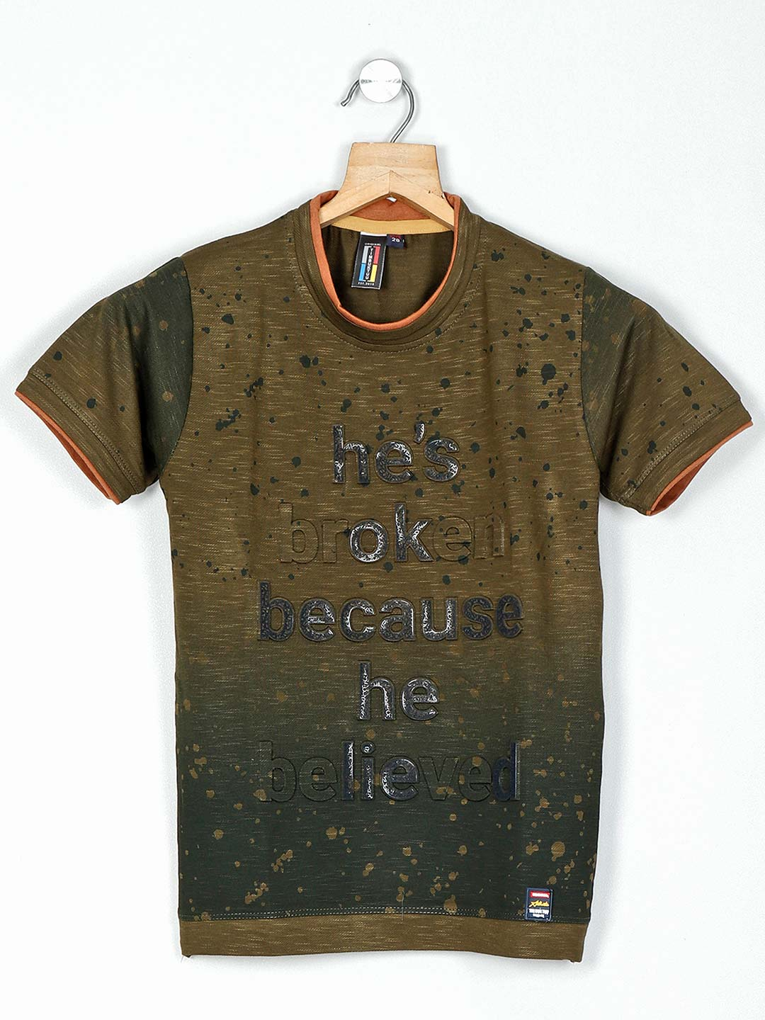 Timbuktuu olive printed cotton casual t-shirt?imgeng=w_400