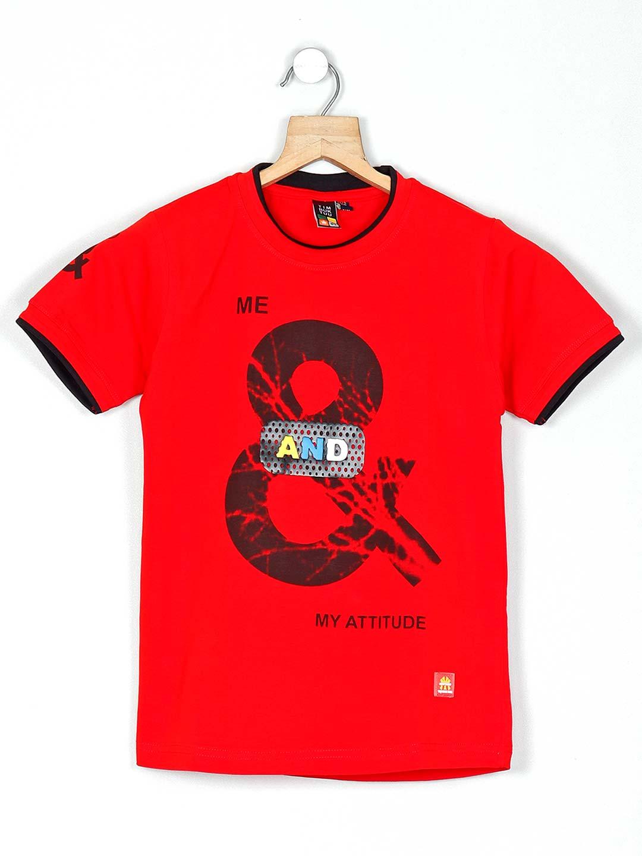 Timbuktuu printed pattern red casual boys t-shirt?imgeng=w_400